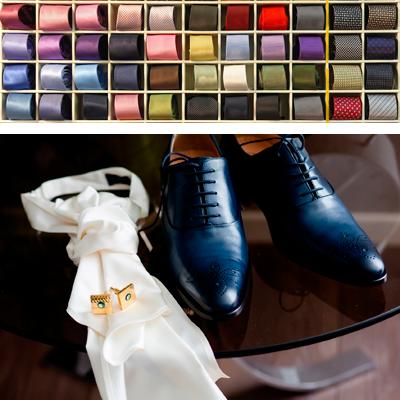 Accesorios para traje de novio: corbatas, zapatos y cinturones