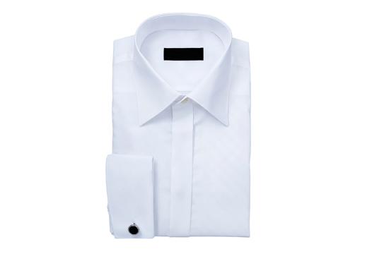 Camisa blanca para traje o chaqué